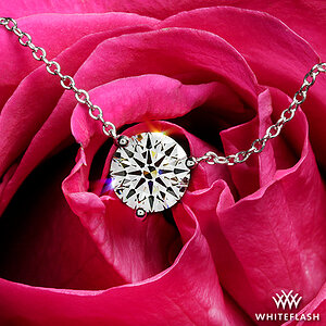Three-Prong Martini Diamond Pendant
