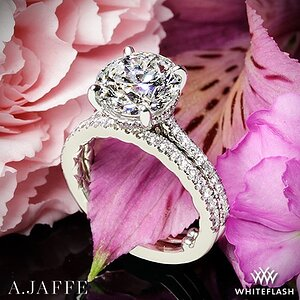 Custom A. Jaffe Classics Diamond Wedding Set