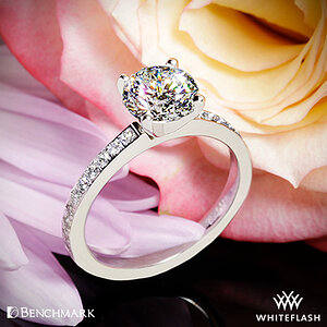 Benchmark Small Pave Diamond Engagement Ring