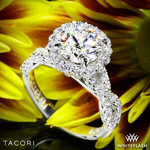 Tacori Royal-T Full-Bloom Diamond Engagement Ring
