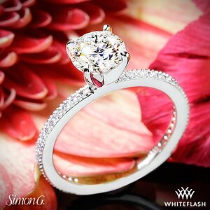 Simon G Classic Romance Diamond Engagement Ring