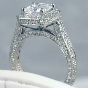 Precision Set Halo Mounting Style # 761519 with 1.30cttw Pave Diamonds