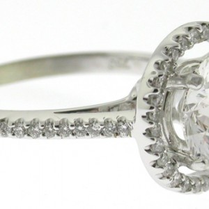 18k White Gold Mounting with 48 Diamonds/.23cttw