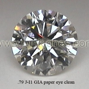 Eye Clean J-I1, .79cts for only $1,200