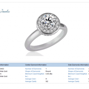 Cirque Diamond Ring in 18K White Gold (3/4 cttw)
