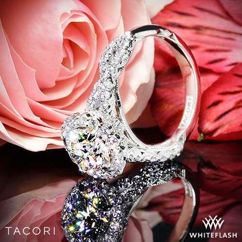 Custom Tacori Royal T Full Bloom Diamond Engagement Ring
