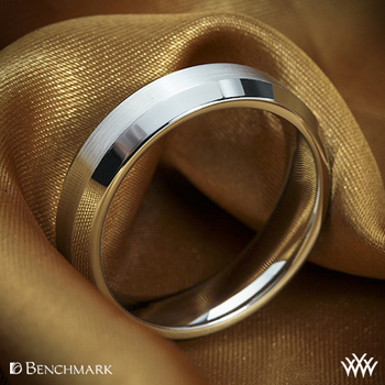 Benchmark Mirror Edge wedding ring