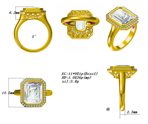 CAD Ring Rendering
