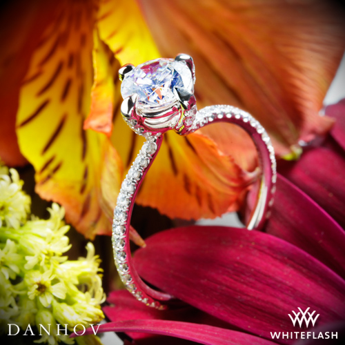 Danhov ZE138 Eleganza Single Shank Diamond Engagement Ring