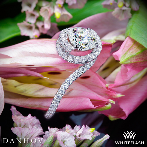 Danhov AE100 Abbraccio Swirl Diamond Engagement Ring