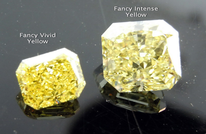 Fancy Vivid Yellow Diamond vs. Fancy Intense Yellow Diamond