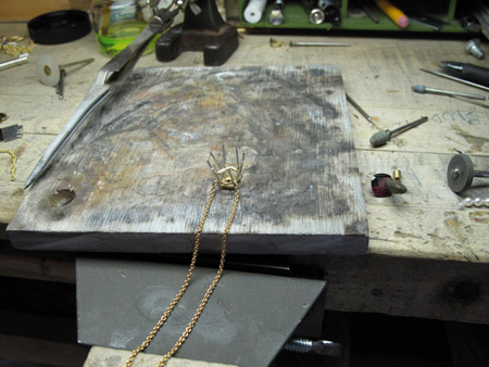 Pendant becomes a necklace