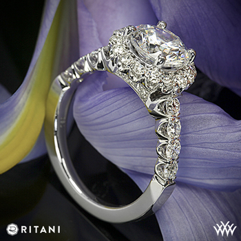 Ritani Masterwork halo diamond ring