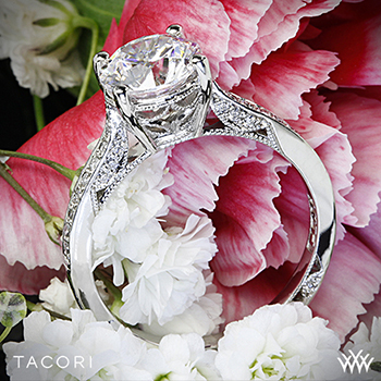 Tacori Dantela Crescent diamond ring