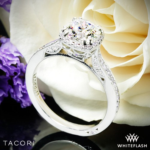 18k White Gold Tacori 2620RDP Dantela Crown