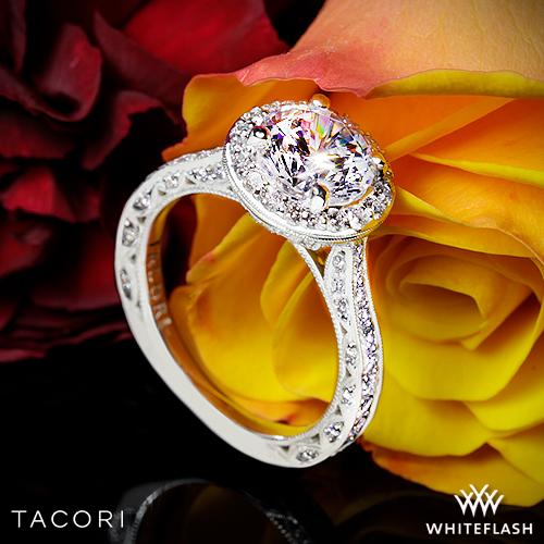 18k Platinum Tacori HT2650RD RoyalT