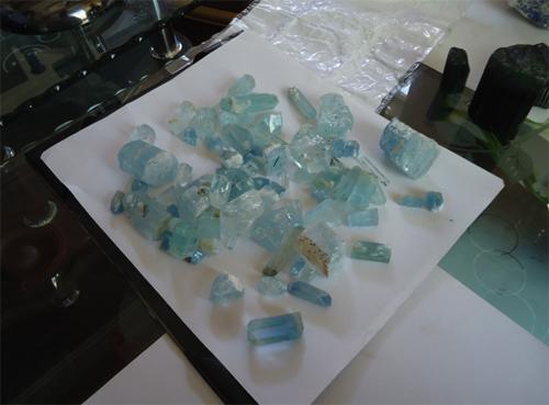 Aquamarine Crystals from Afghanistan