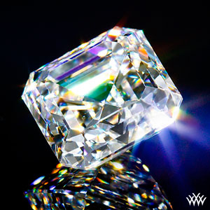 Glamour shot of a 1.95ct Asscher Cut Diamond