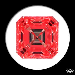 Ideal Scope Image of a 1.95ct Asscher Cut Diamond