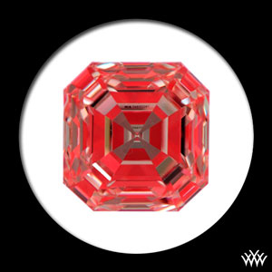 Ideal Scope Image of a 2.02ct Asscher Cut Diamond