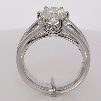 Finished diamond engagement ring profile
