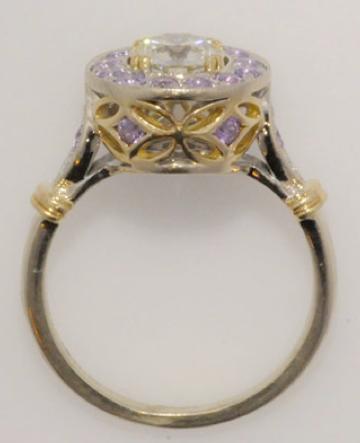 Finished diamond purple sapphire ring gallery