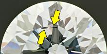 Metallic inclusions in synthetic diamond