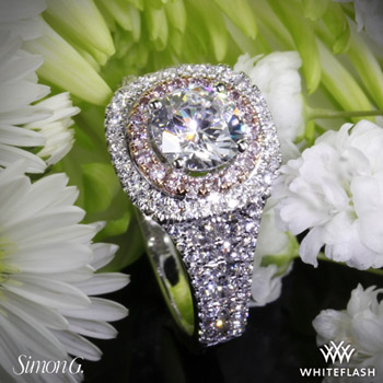 Simon G. Passion Double Halo Engagement Ring