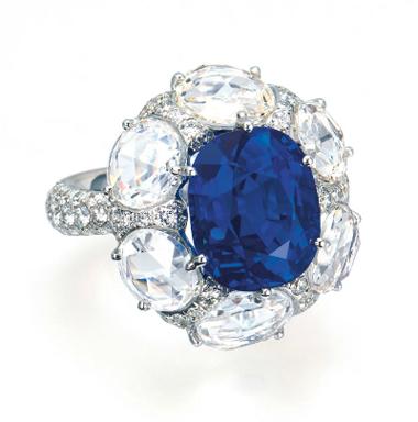 Kashmir sapphire and diamond ring - Christie's Hong Kong