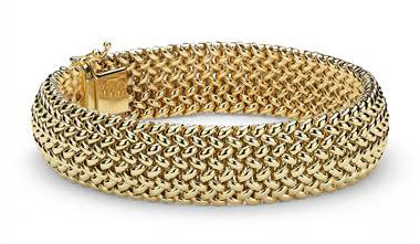 Mesh Bracelet in 14k Yellow Gold at Blue Nile