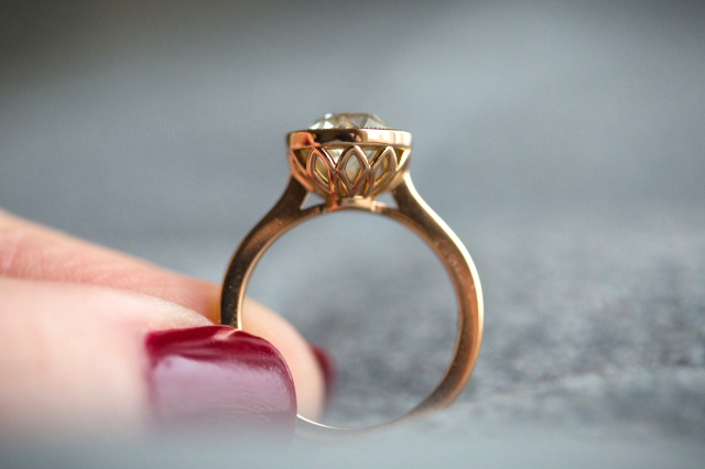 Jewel Of The Week Rose Gold Quot Petal Quot Engagement Ring