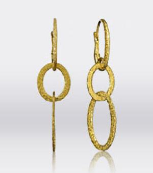 James Allen Hammered 18k yellow gold hoop earrings