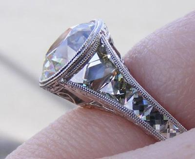 French cut diamond ring
