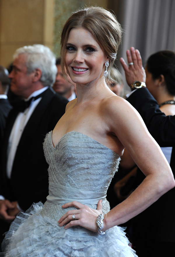 2013 Oscars Red Carpet - Amy Adams in Mouawad Jewelry