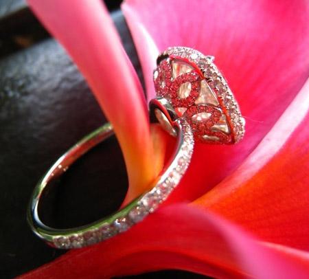 4 carat cushion cut diamond ring profile