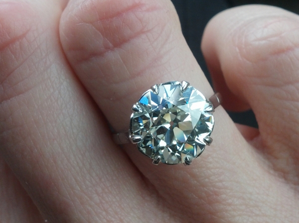 4.56-carat old European cut diamond ring posted by missy