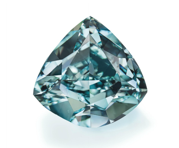 5.50-carat fancy vivid blue-green diamond • Christie's