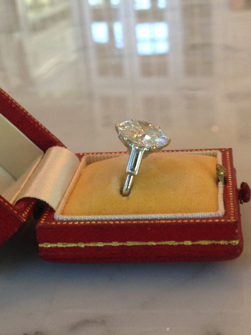 5-Carat Cartier Art Deco Diamond Ring • Image by RandG