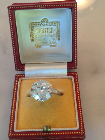 Jewel Of The Week 5 Carat Cartier Art Deco Diamond Ring