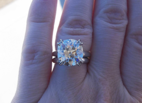 5-carat antique cushion-cut diamond ring posted by Sarahbear621