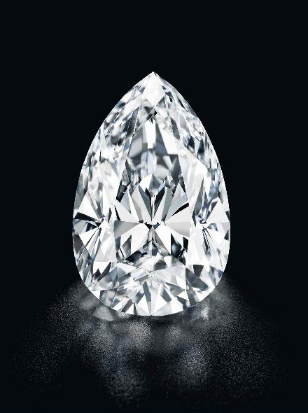 55.52-carat D color Flawless clarity diamond  • Image: Christie's
