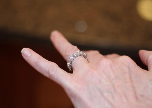Custom six-carat diamond eternity band