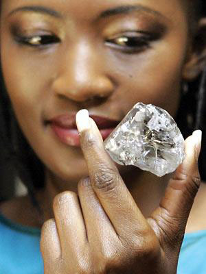 603 carat Lesotho Promise rough diamond
