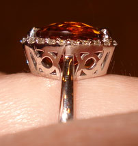 Tuckins1's November Birthstone Alert - 6 Carat Citrine Halo Ring (Side View) - image by Tuckins1
