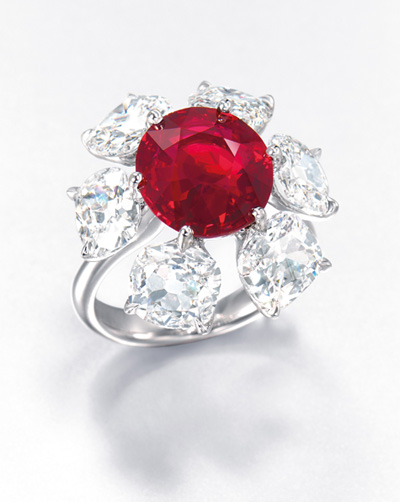 6.04 carat Burmese ruby and diamond ring by Etcetera - Christie's Hong Kong