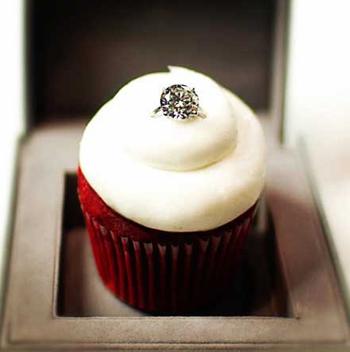 $55,000 diamond engagement ring in red velvet cupcake