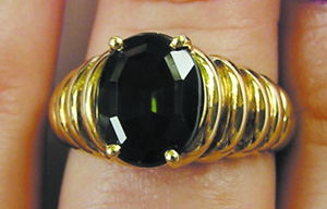 80s heavy gold ring