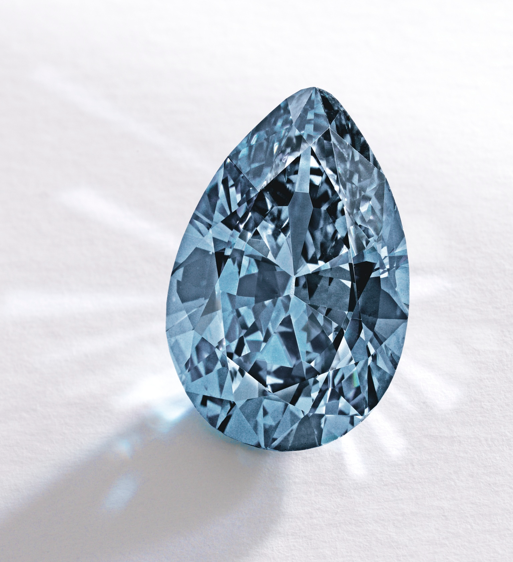 9.75-carat fancy vivid blue diamond  set two new world auction records at Sotheby's New York, Nov 20, 2014