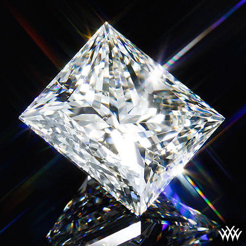 'A Cut Above' ideal princess-cut diamond: Image courtesy of Whiteflash