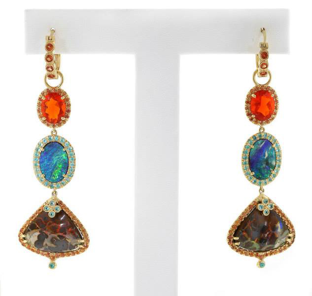 AGTA 2014 Best Use of Color - Earrings by Erica Courtney